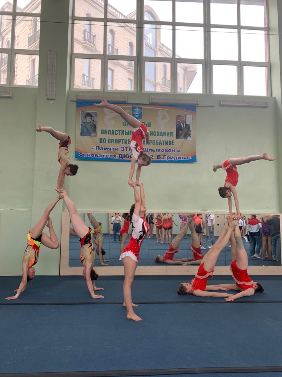 Достижения в спортивной акробатике
