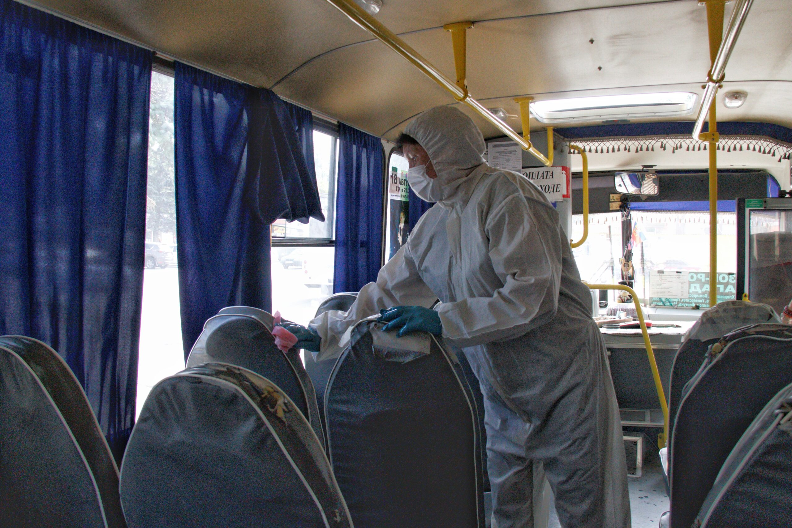 Транспортная система Азова  готова к работе в условиях пандемии